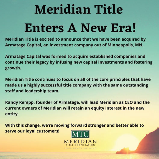 A New Era for Meridian Title