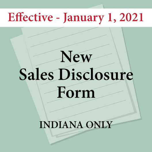 New Sales Disclosure Form - Indiana